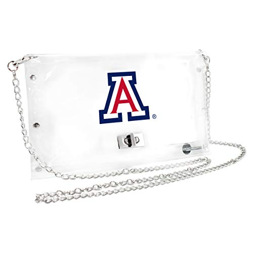 Littlearth Arizona Wildcats  NCAA Envelope Purse, Clear  - 10 x 0.5 x 6.5 - Inch ()