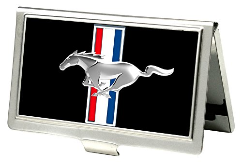 (Buckle-Down Business Card Holder - Ford Mustang Full Color Black - Small)