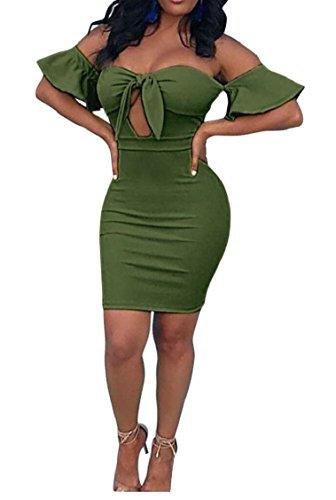 Fuori Sexy Cocktail 1 Spalla Vestito Delle Midi Del Jaycargogo Bodycon Del Club Donne Partito ftgnqB