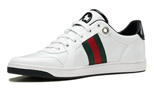 99242829211e1 Gucci Men s Lace Up Trainer With Interlocking G   Web Detail