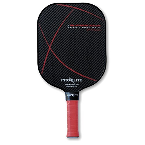 ProLite SuperNova Black Diamond Pickleball Paddle (Radiant Red) by ProLite