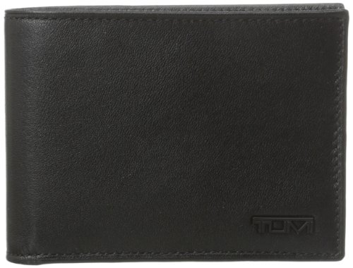 Tumi Men's Delta Double Billfold, Black, One Size