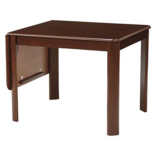 伸長式ダイニングテーブル バタフライテーブル 【長方形 ダークブラウン】 幅93 135cm 木製 丸角 VDT-7685DBR B06XKTP8NDダークブラウン 幅93/135cm