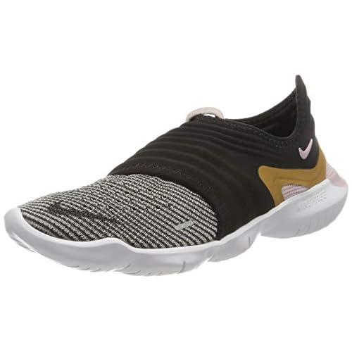 chollos oferta descuentos barato Nike Wmns Free RN Flyknit 3 0 Zapatillas para Correr para Mujer Black Mtlc Gold Plum Chalk 40 EU