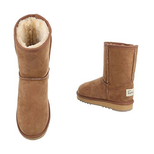 Camel Slouch Design Damen Ital Boots TxqInFOC