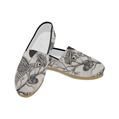 D-story Mode Sneakers Lägenheter Motorcykel Och Usa Sjunker Kvinna Klassisk Slip-on Tygskor Loafers Day Of The Dead 2