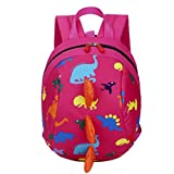 Kid's Backpack Kinghard Baby Boys Girl's Shoulder Bags Dinosaur Pattern Backpack Animals Pattern School Bags Fashion Shoulder Bag Lunch bag Toddler School Bag, Can put cups, drinks, etc. (Hot Pink)