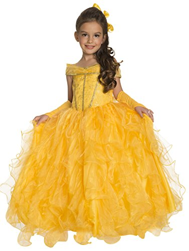 Beast The And Belle Make Costume Beauty (Rubie's Deluxe Princess Jessica Costume, Yellow,)