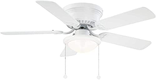 Hugger AL383CP-MWH 44 in. LED Matte White Ceiling Fan
