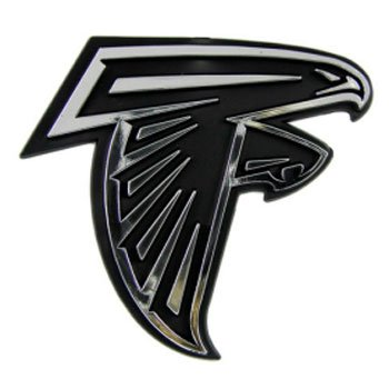 Team ProMark NFL Atlanta Falcons Chrome Automobile Emblem