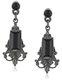 """1928 Jewelry """"Bonne Nuit"""" Vintage-Inspired Chandelier Earrings"""