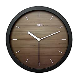 hito Modern Colorful Silent Non-ticking Wall Clock- 12 inches (A blackframe)