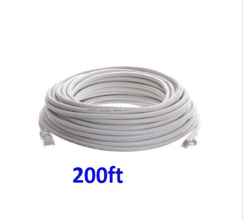 (200ft CAT6 RJ45 Ethernet LAN Network Patch Cable for PS Xbox Internet Router WT)
