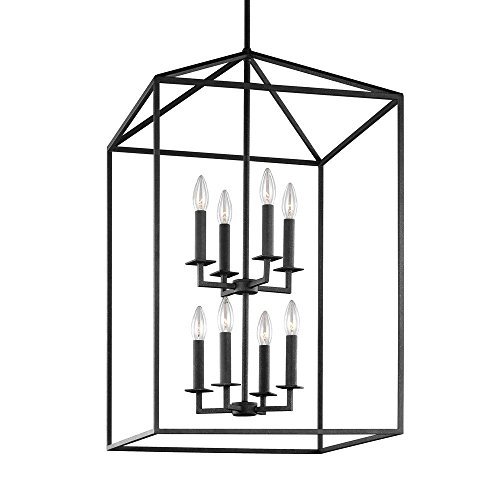 19-Inch Eight-Light Open Frame Pendant Lamp Two
