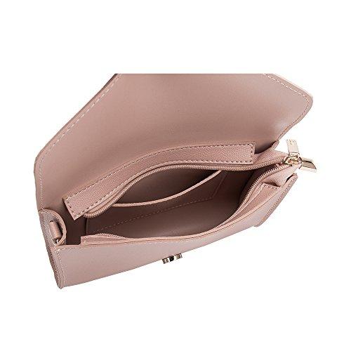 Leather Front Women Luxury Vegan Crossbody Melie Bianco Bags Blush Strap For Shoulder Flap Design Stylish 1wOaTwq