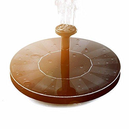 Yehard Solar Bird Bath Fountain Pump,1.4W Floating Solar Panel Kit Submersible Pump for Garden or ()