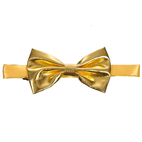 Men's Metallic Gold Banded Bow Tie Gary Majdell Sport (Gold)