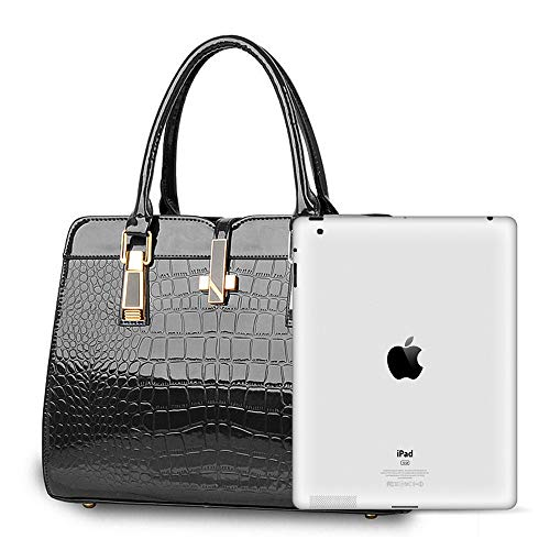 PU Handbags Ladies Bags Black Shoulder Leather Crossbody BestoU Women q5EWfnzO1w