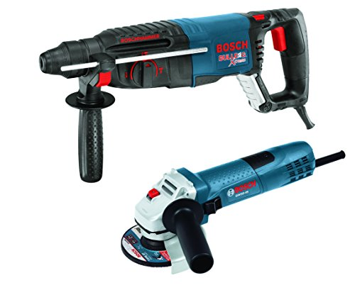 Bosch 11255VSR-GWS8 1'' SDS-plus Bulldog Xtreme Rotary Hammer with 4-1/2'' Small Angle Grinder, Blue by Bosch