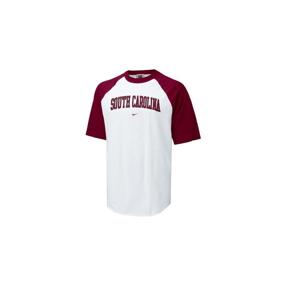 Nike South Carolina Gamecocks White Classic Raglan T shirt