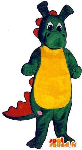 Traje que representa un cocodrilo bebé colorido: Amazon.es ...