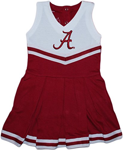 Baby Infant Cheerleader Dress (University of Alabama Crimson Tide Cheerleader Bodysuit Dress Crimson 3-6 Months)