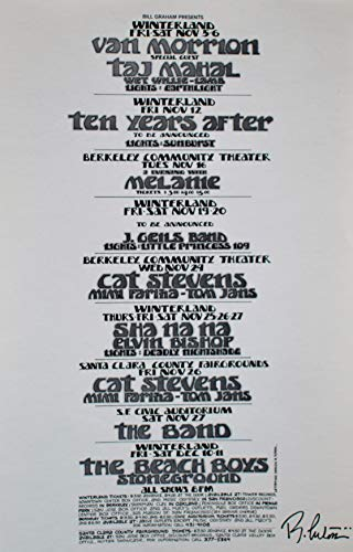 - The Band Beach Boys Handbill 1971 & More Signed Randy Tuten