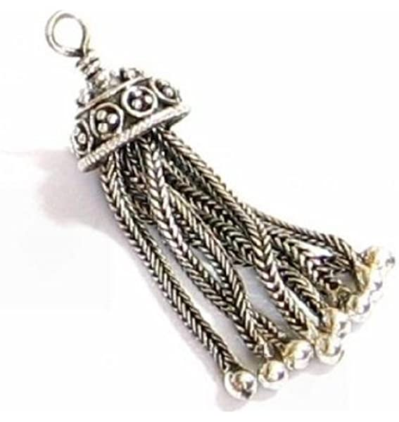 CPT01 Sterling Silver Chain Tassel 1 Sterling Silver Tassel Pendant 925 Sterling Silver Pendants