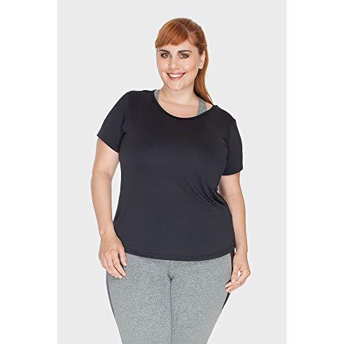 Blusa New Fitness Plus Size Preto-48