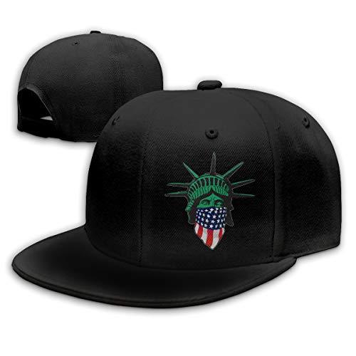 - WEIPING LF Statue of Liberty USA Adult Unisex Adjustable Flat Baseball Cap Snapback Hip-Hop Cap