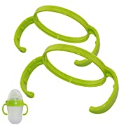 Feeding Bottle Handles Grip Compatible for Comotomo Baby Bottles, Pack of 2 (Green)