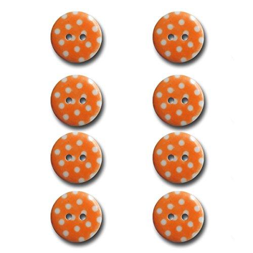 (Maya Road BUT2941 Polka Dot Buttons, Tangerine Orange)