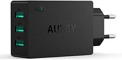 AUKEY Caricatore da Muro con 3 Porte 30W 6A Caricatore USB con AiPower per iPhone X / 8 / 8 Plus, iPad Air / Pro, Samsung, HTC, LG, Nexus, Tablet ecc.