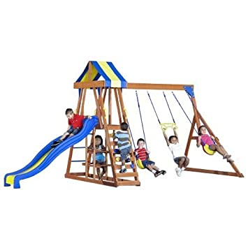 Academy Sports Backyard Discovery Yukon Iii Wooden Swing Set