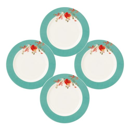China Plates Round Fine (Lenox Simply Fine Chirp 4-Piece Dessert Plate Set)