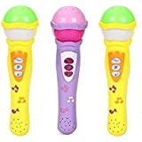 BabyGo Self Voice Singing Music Show Microphone With 5 Music Changer And Clap Button - Multicolor 1 Pcs