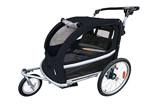 Booyah Strollers Child Baby Bike Bicycle Trailer and Stroller II (Black) (Black)