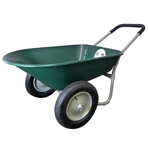 Marathon 5 Cubic Feet Green Poly Wheelbarrow
