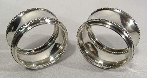 Antique Gorham Sterling Silver Hollowware Napkin Rings (2) B1559