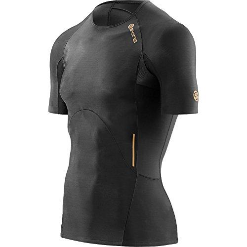 Skins Men's A400 Short Sleeve Compression Top, Black, Medium