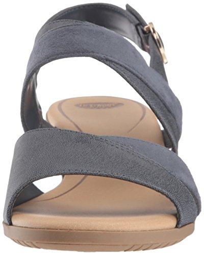 Dr. Scholls Kvinna Nåd Sandal Blå Skinande