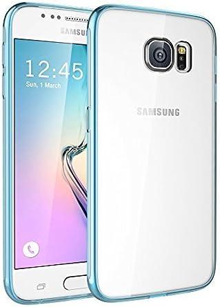 Coque Galaxy S6, SGM (TM) [fin Hybrid] Coque pour Samsung Galaxy S6 [Clear Coque] – Galaxy S6 Coque bumper – avec SGM (TM) Chiffon de nettoyage en ...