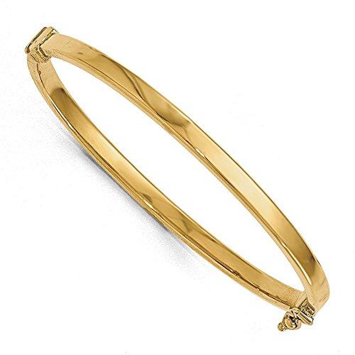Bracelet Jonc en or poli 14carats à charnière