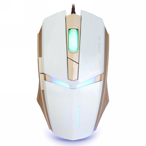 Qisan USB Wired 1600 DPI Adjustable LED Cool Gaming Mouse(White) (Cool Usb Mouse compare prices)