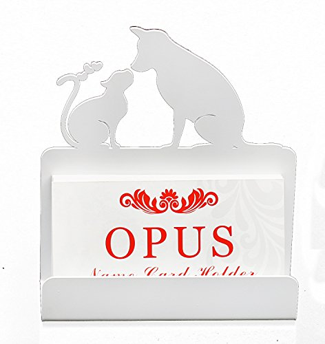 Business Card Holders - Pet Favored Shape - White