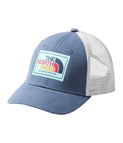 The North Face Kids Unisex Youth Mudder Trucker Hat Blue Wing Teal/Mint Blue Multi One Size