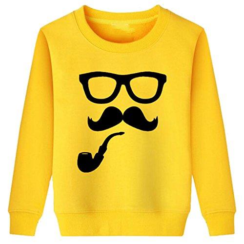 Little Boy Girl Pipe and Moustache Funny Sweatshirt -