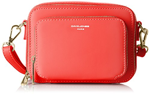 David Jones Damen Cm3767 Umhängetasche, 7x12x16 centimeters Rot (Red)