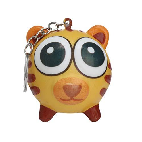 KKYT Slow Rising Squishy Toys, Squishy Animal Toys Stress Relief Squishies Random Mini Kawaii Squishies Lion Cat Tiger Zebra Squishies Keychain for Boys Girls (C)