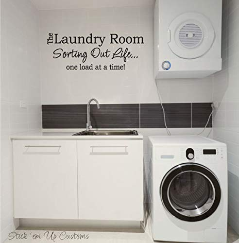 Wall Decals The Laundry Room Sorting Out Life One Load At A Time Home  Sticker Decor Cute Decor for Laundry Room
